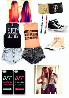 Bff outfit :) >> I'm the black t shift