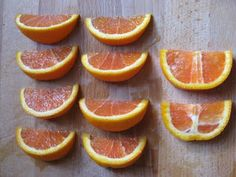 The best way to cut an orange--it leave the pithy white center in just 2 slices. The rest of the slices are picture perfect, everyone will fight for them! | New Nostalgia