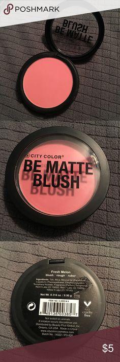 City Color Be Matte Blush - FRESH MELON City Color Be Matte Blush - FRESH MELON - Will sanitize with BeautySoClean products before mailing. Makeup Blush