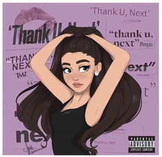 thank u, next= Ariana Grande Ariana Grande Drawings, Ariana Grande Fotos, Ariana Grande Wallpaper, Foto Cartoon, Eye Makeup, Workout Hairstyles, Diy Hairstyles, Retro Pop, Thank U