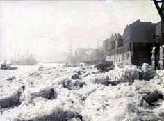 The frozen Thames at Limehouse, 1895