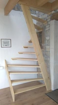 60 Trendy Ideas For Attic Stairs Ideas Stairways Space Saving Attic Stairs, Garage Stairs, Tiny House Stairs, Attic Loft, Staircase Design, Staircase Ideas, Hallway Ideas, Small Space Staircase, Ikea Hallway