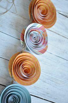 Paper Flower Garland- Beach Theme- Party Decorations- Wedding Garland 5 Feet. $28.00, via Etsy.