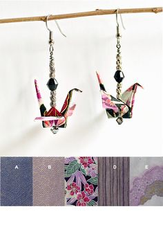 Purple Custom Paper Earrings, Handmade Paper Jewellery,Paper Jewellery Price,Origami Gifts for Friends,Origami Birthday Gift Ideas