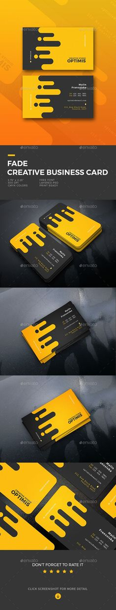 Fade Creative Business Card Template PSD