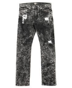 Kennedy Denim Co. - Distressed Mineral Washed Denim (Black Fizz)
