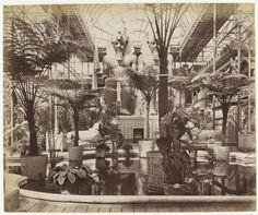 Egyptian Court inside the Crystal Palace, London. Early 1900's