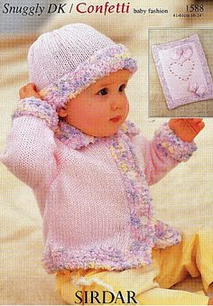 Retro Sirdar Baby's Knitting Patterns - PDFs - No Postage Baby Patterns, Knit Patterns, Crochet Toys, Crochet Baby, Sirdar Knitting Patterns, Quick Knits, Baby Cardigan, Knitted Hats, Children