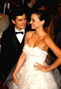Orlando Bloom and Miranda Kerr.... Seriously the most adorable couple EVER