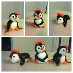 Fondant Penguins #cake #fondant #birthday... If not then use wooden toy penguins from game