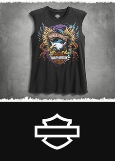 Washed to look like you've had it for as long as you've had your crush on (insert name here). | Harley-Davidson #HDBlackLabel Women's World Famous Muscle Tee