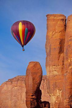 Balloon In Monument Valley by Brian Jannsen, via fineartamerica.com