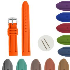 20mm Pumpkin Orange Silicone Jelly Rubber Unisex Watch Band bandjes WB1072H20JB