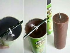 Pringle can to make candles