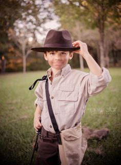 Indiana Jones costume.  I hope my kids are as cultured as this.
