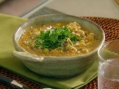 White Bean and Chicken Chili Recipe. I've made this a dozen times, though, I use diced chicken rather than ground (no mystery bits)... IMHO the best white-bean chili I've ever tasted.   Links to Giada De Laurentiis' recipe on Food Network