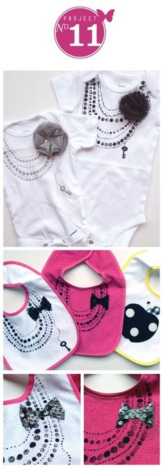 Baby Girl Onesies diy necklaces