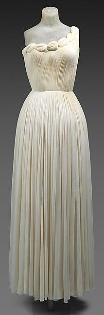 Oh Good God! | Madame Grès Dress - 1958 - by Madame Grès (Alix Barton) (French, 1903-1993) - Silk - @Mlle