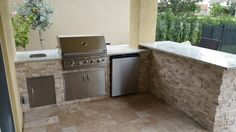 Outdoor Kitchen by Brandel Masonry in Boynton Beach, FL.