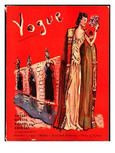 Vogue Cover - October 1 1937 Poster Print by Christian Berard at the Condé Nast Collection