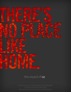 There's No Place Like Home. // Movie Friday: 14 'The Wizard of Oz' Alternative Movie Posters