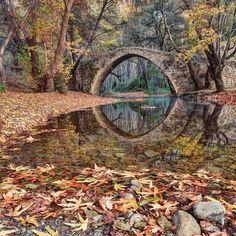 SEASONAL – AUTUMN – fall leaves in brilliant colors decorate the landscape at the ancient kefalos bridge, island of cyprus, photo via louise. Beautiful World, Beautiful Places, Beautiful Pictures, Simply Beautiful, Wonderful Places, Foto Art, Jolie Photo, Faeries, Beautiful Landscapes