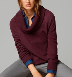 Colour combi of burgundi, blue and grey, by Massimo Dutti '14