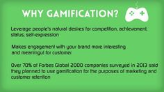 Leverage people's natural desires for competition, achievement and  status by adding Game thinking and Game Mechanics to your Loyalty Program. Gamification will make your program exciting and meaningful for the users and will keep them coming back for more.