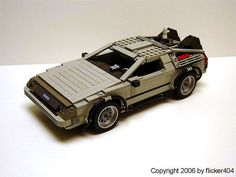 Back To The Future DeLorean made out of LEGOs - Doobybrain.com