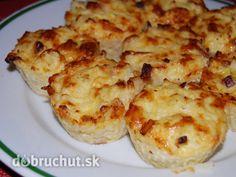 Fotorecept:+Zapekaný+syr+s+karfiolom+ako+muffiny