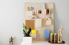DIY This $328 Anthropologie Wall Organizer for Less Than $50 via Brit + Co
