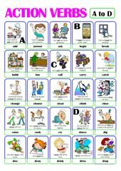 Awesome Action Verbs Worksheet For Grade 1 that you must know, Youre in good company if you?re looking for Action Verbs Worksheet For Grade 1 Learning English For Kids, English Worksheets For Kids, Kids English, English Activities, English Lessons, Learn English, English Verbs, English Vocabulary, Verb Words