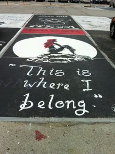 My cousin's parking spot at her school. Her brother painted it for her. :)