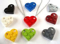 Amore cuore amicizia collane x 2-Set di due di bitsandbadges