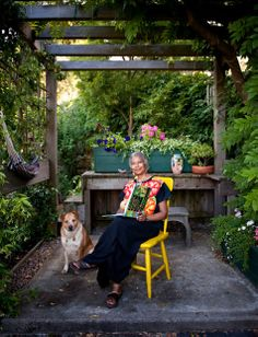 Alice Walker in her Garden with Miles -- Her incredibly beautiful website...