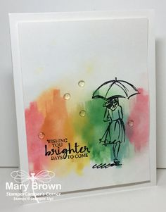 So I had this idea for a quick and easy card using one of my favorite sets – Beautiful You!  I wanted to do a 'watercoloring' kind of card and since I'm not all that good at…
