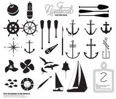Creative Vector, Illustration, Premium, Nautical, and Pack image ideas & inspiration on Designspiration Nautical Logo, Nautical Party, Nautical Design, Vintage Nautical, Icon Design, Logo Design, Graphic Design, Resort Logo, Typography