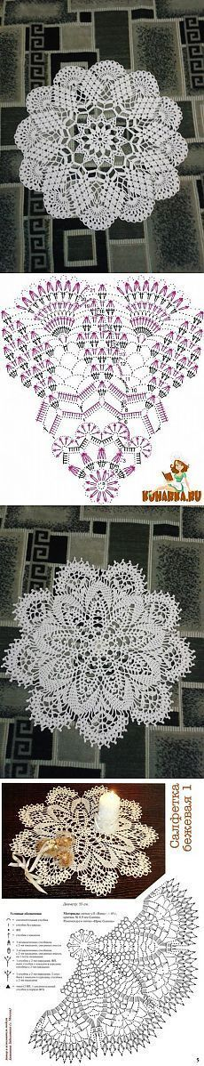 Doilies 939 and 940 Filet Crochet Charts, Crochet Doily Patterns, Crochet Art, Crochet Round, Crochet Home, Thread Crochet, Vintage Crochet, Crochet Designs, Crochet Crafts