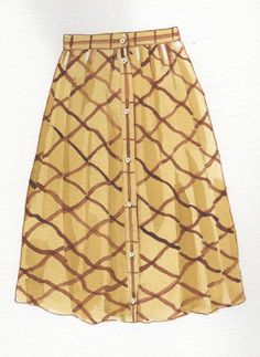 """Preppy A line skirt -- think Charlotte from """"Sex and the City"""""""