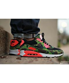 the latest a0c31 4b594 Nike Air Max 90 Atmos Duck Camo Infrared Trainers