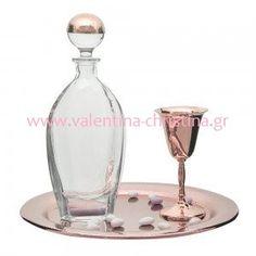 Σετ γάμου σε  ροζ χρυσό Wine Decanter, Wedding Decorations, Weddings, Fashion, Moda, La Mode, Wedding, Wedding Decor, Fasion