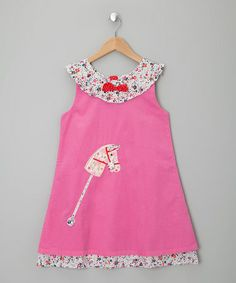 Take a look at this Pink Hobby Horse Cord Dress by Powel Craft on #zulily today!