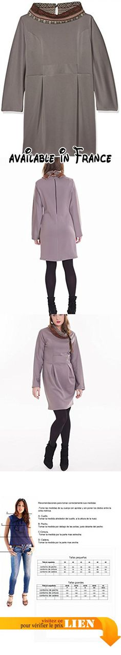 Susana Escribano I15116-V003, Robe Décontractée Femme, Multicolore (Gris / Camel), 50.  #Apparel #DRESS