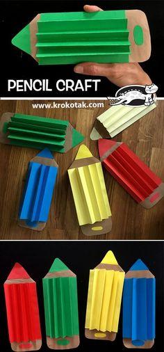 Feb Crafts for your preschool classroom. Fun craft projects for kids. Kids Crafts, Craft Projects For Kids, Craft Activities For Kids, Diy For Kids, Diy And Crafts, Arts And Crafts, Paper Crafts, Classe D'art, Pencil Crafts