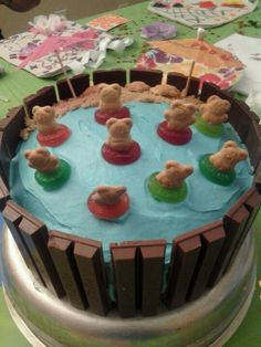 kitkat cake for my daughter's luau party
