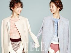 Minah and Hyeri - Girl's Day - Elle Magazine