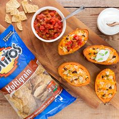 Twice Baked Tex Mex Sweet Potatoes - Create the tastiest Twice Baked Tex Mex Sweet Potatoes, Tostitos® own Twice Baked Tex Mex Sweet Potatoes Recipe with step-by-step instructions. Make the best Twice Baked Tex Mex Sweet Potatoes for any occasion.