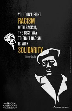 This is the Bobby Seale poster created for the PBS series The African Americans: Many Rivers To Cross. The poster was created by Ink & Sword and features a quote by political activist and co-founder of the Black Panther Party, Bobby Seale. The first episo Black History Facts, Black History Month, Martin Luther King, Mantra, Bobby Seale, Black Panther Party, By Any Means Necessary, Power To The People, African American History