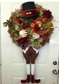 A personal favorite from my Etsy shop https://www.etsy.com/listing/466981248/thanksgiving-deco-mesh-wreath-fall