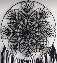 Photo from album Lace Dream Catchers, Dream Catcher Craft, Dream Catcher Boho, Crochet Dreamcatcher Pattern, Crochet Mandala, Boho Dreamcatcher, Crochet Wall Art, Crochet Wall Hangings, Mode Crochet